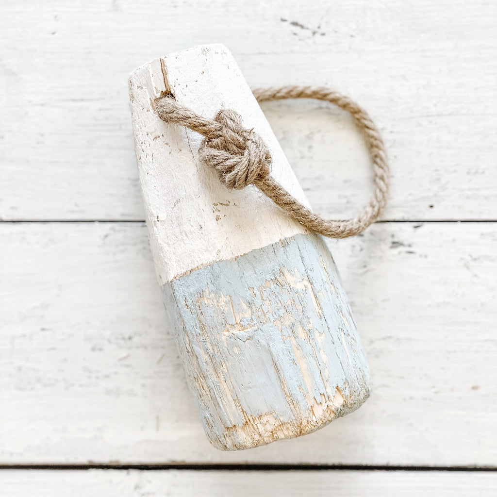 Vintage Buoy, blue/white