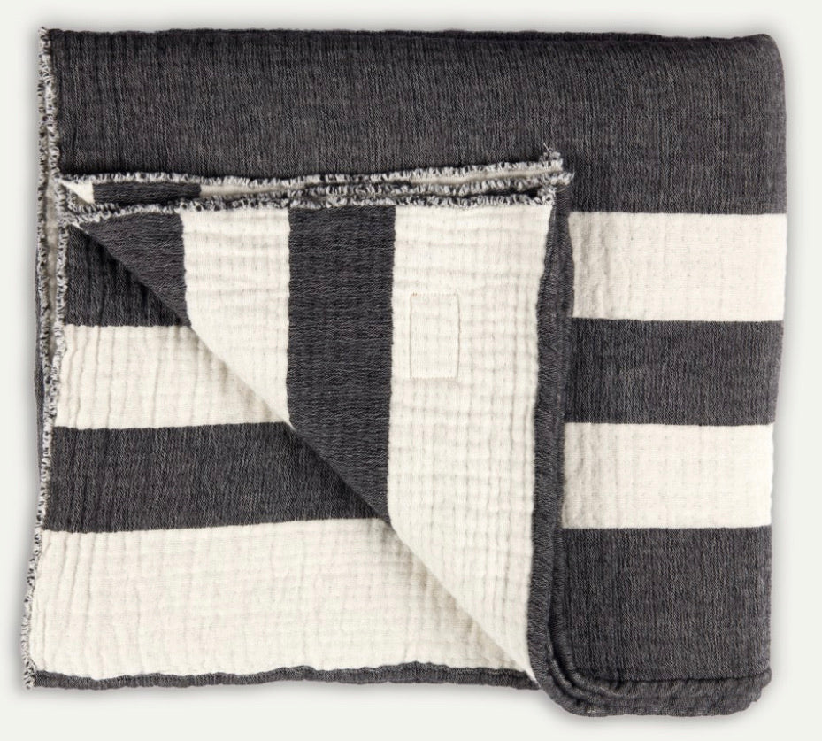 Throw, Heirloom, Charcoal