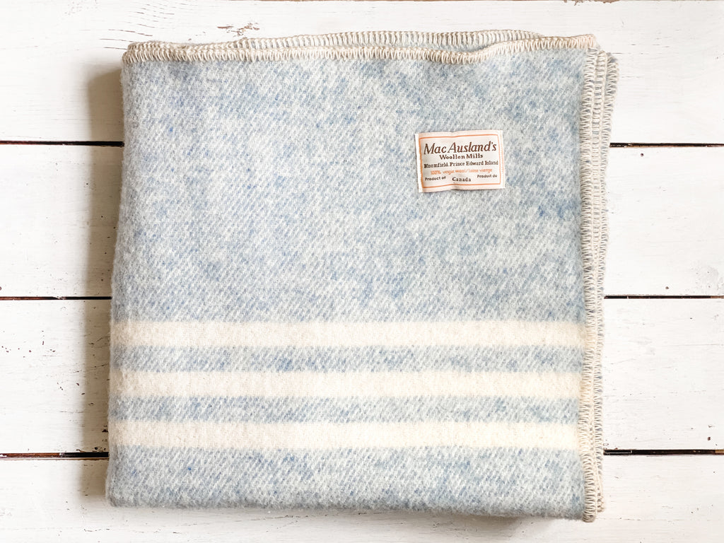 MacAuslands Mill Wool blanket, blue