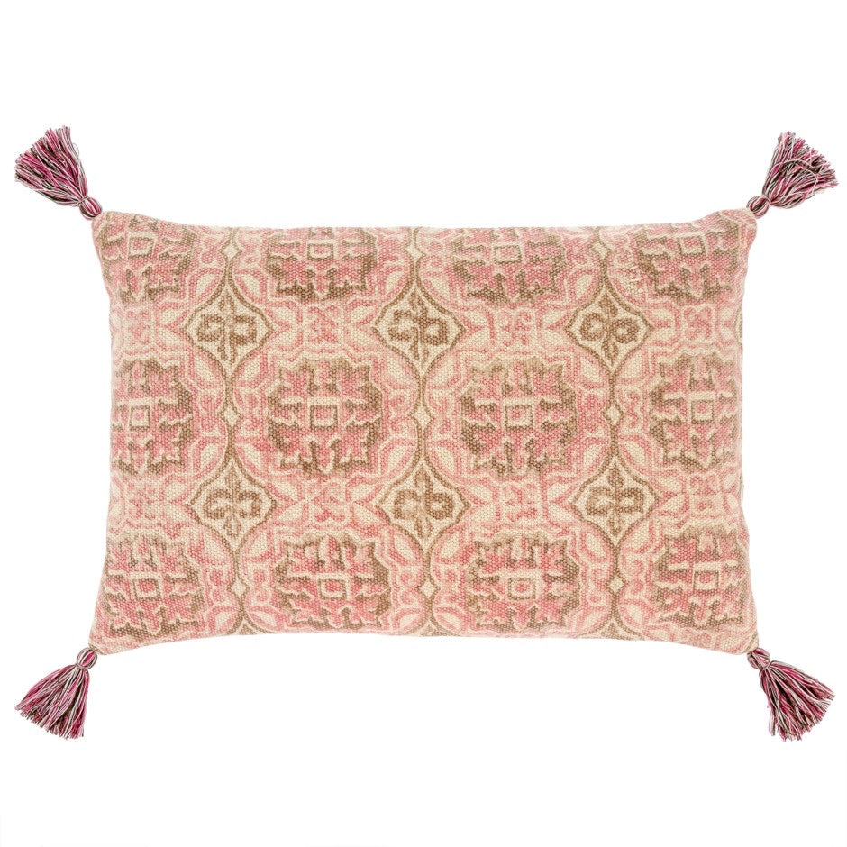 Rosa Block Print Pillow