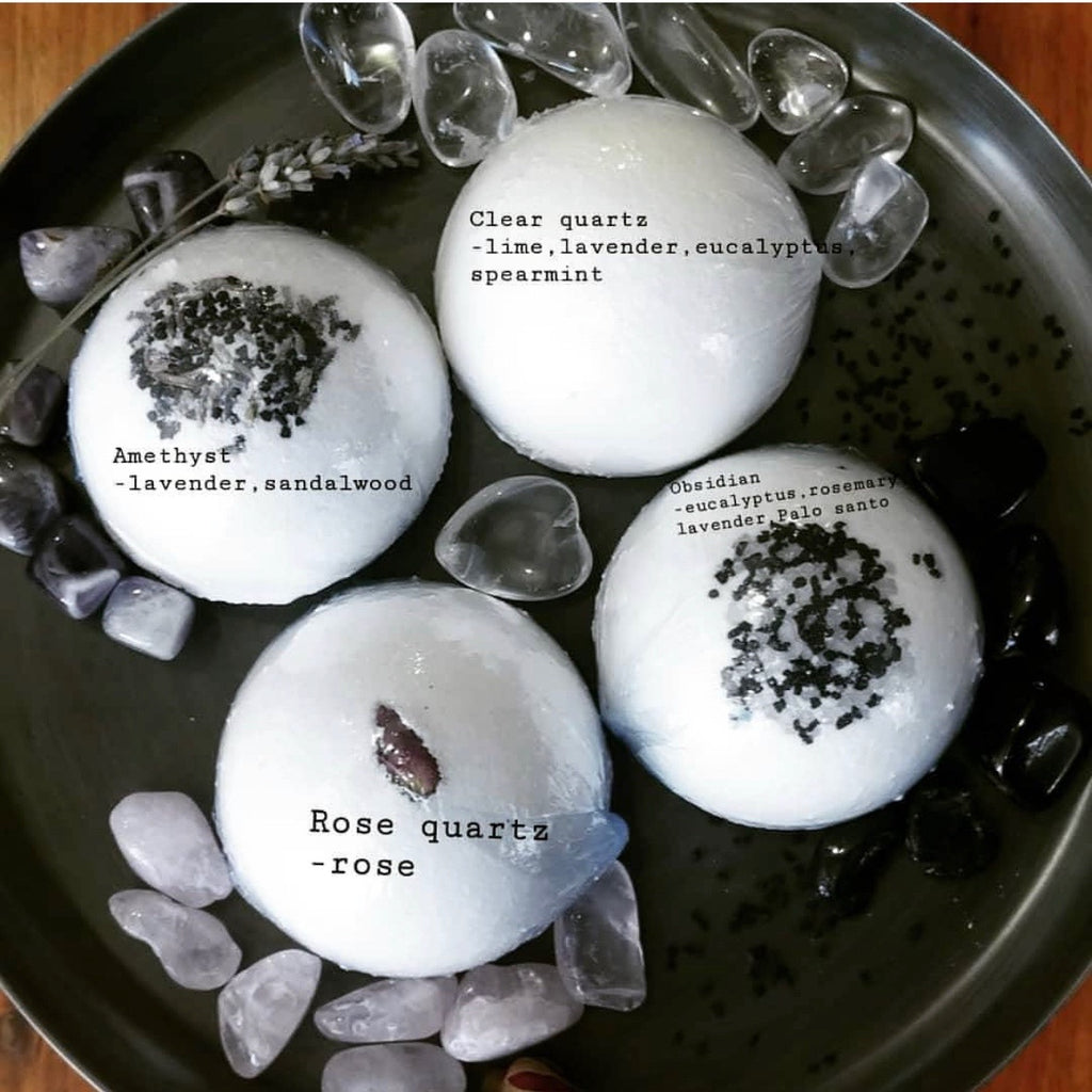 Crystal Infused Bath Bombs