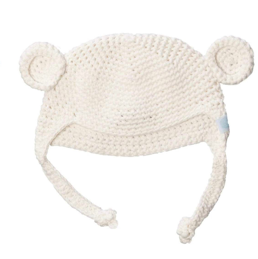 Crochet Bear Toque Ivory