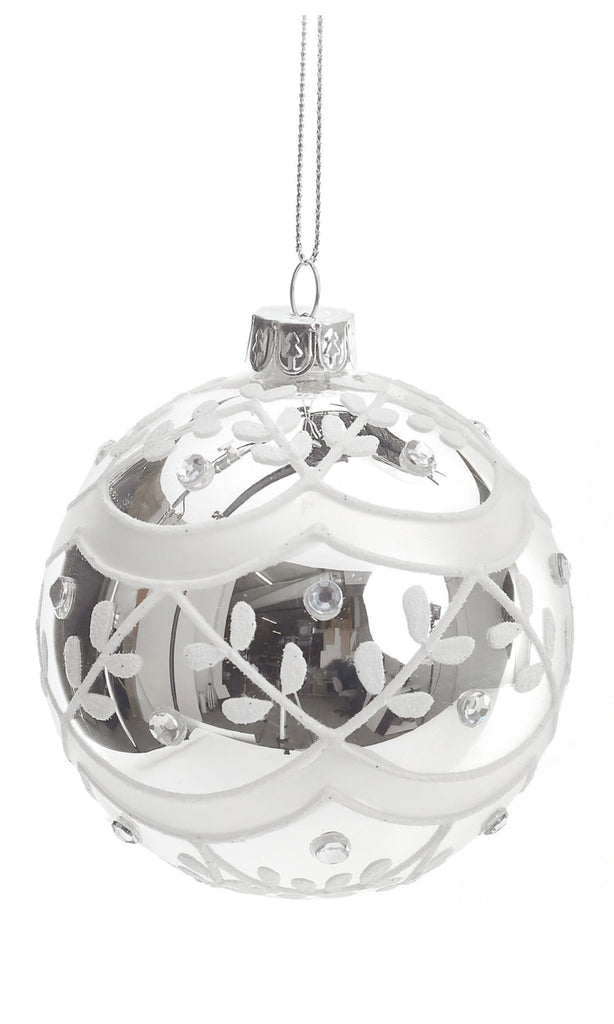 Antique Clear Glass Ornament