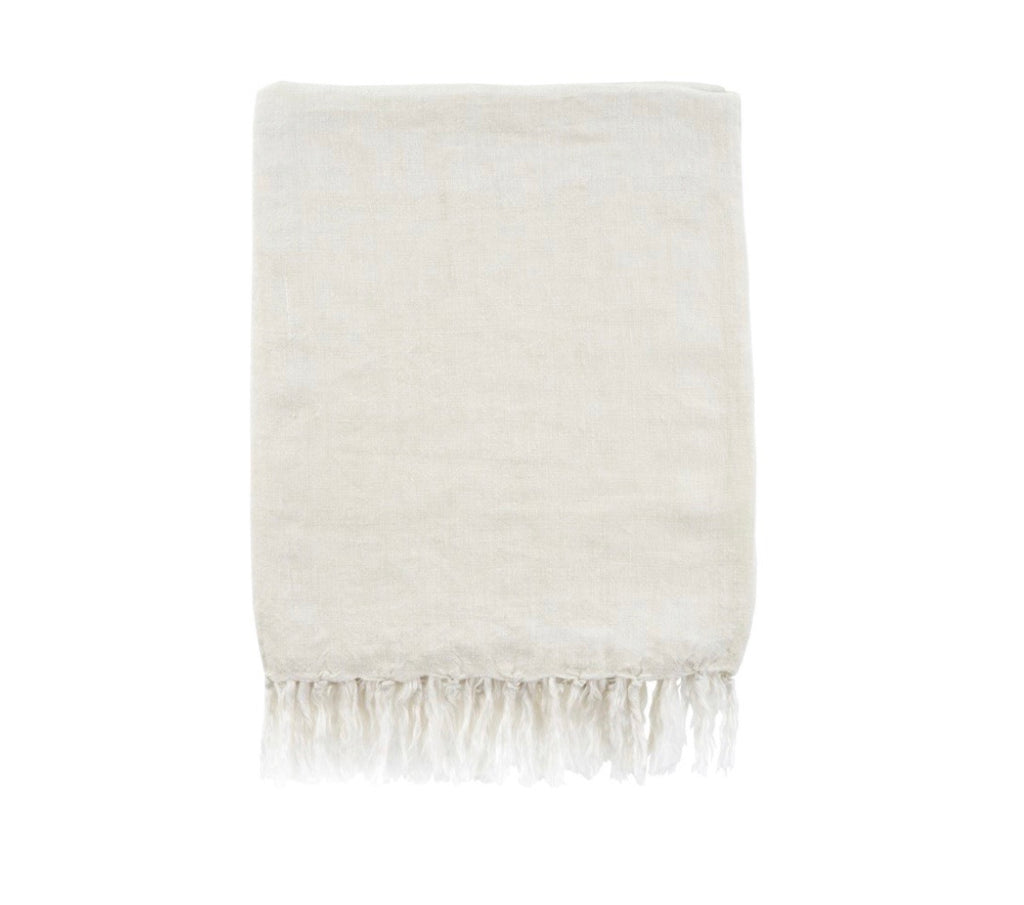 Lina linen throw, natural