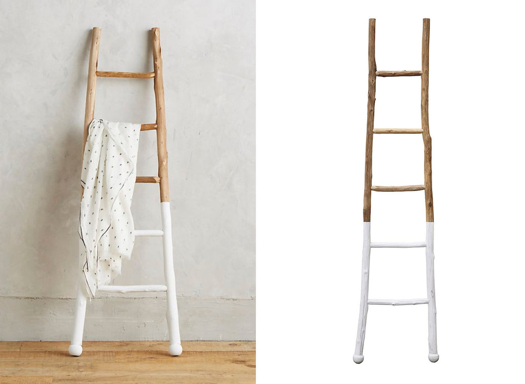 Wooden White Dipped Ladder  **In store item only**