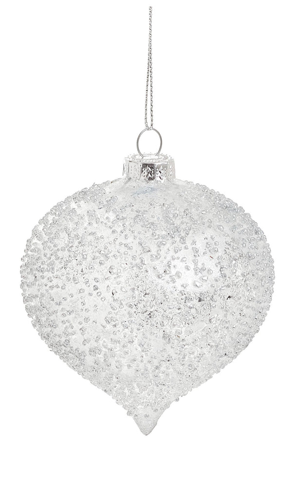 White Glass Ornament