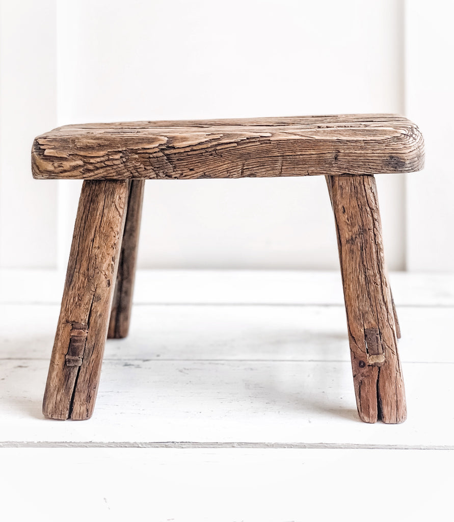 Wooden Antique Stool Small