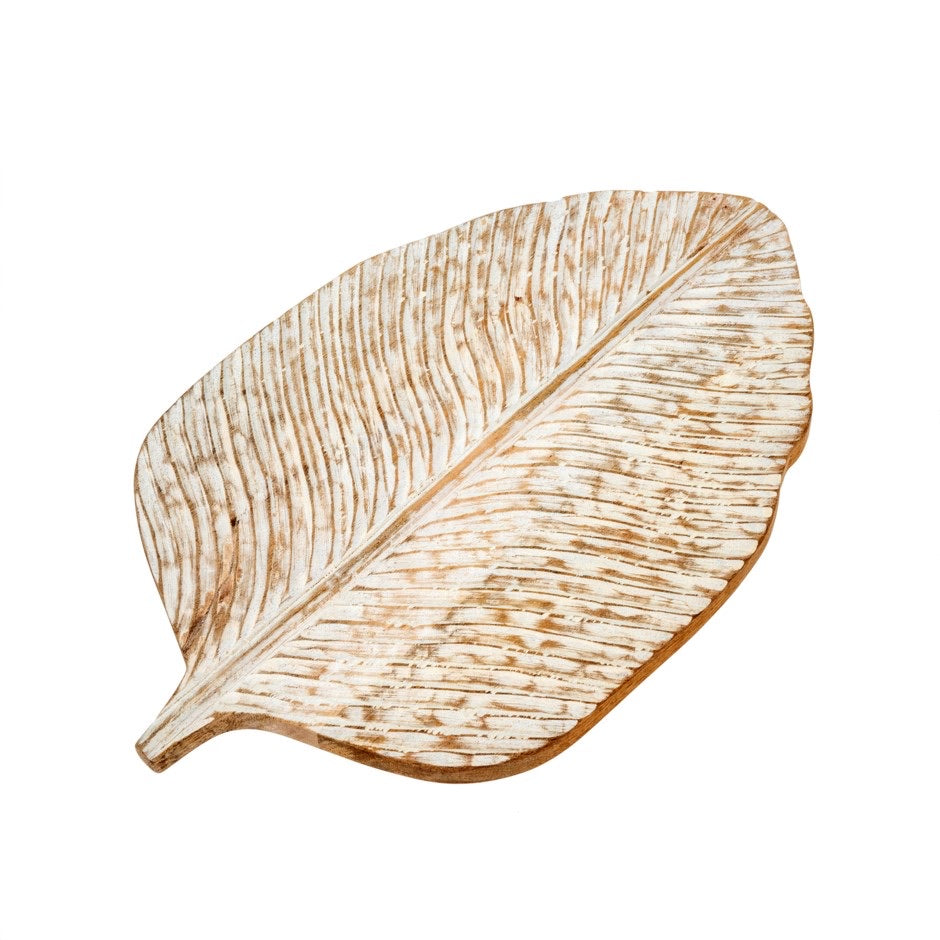 Carved Leaf Board, Lrg