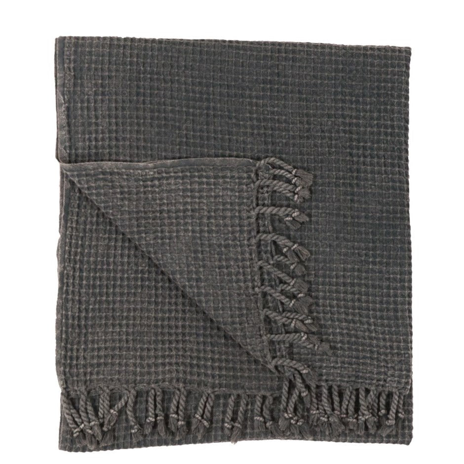 Charcoal Waffle Turkish Towel/Throw