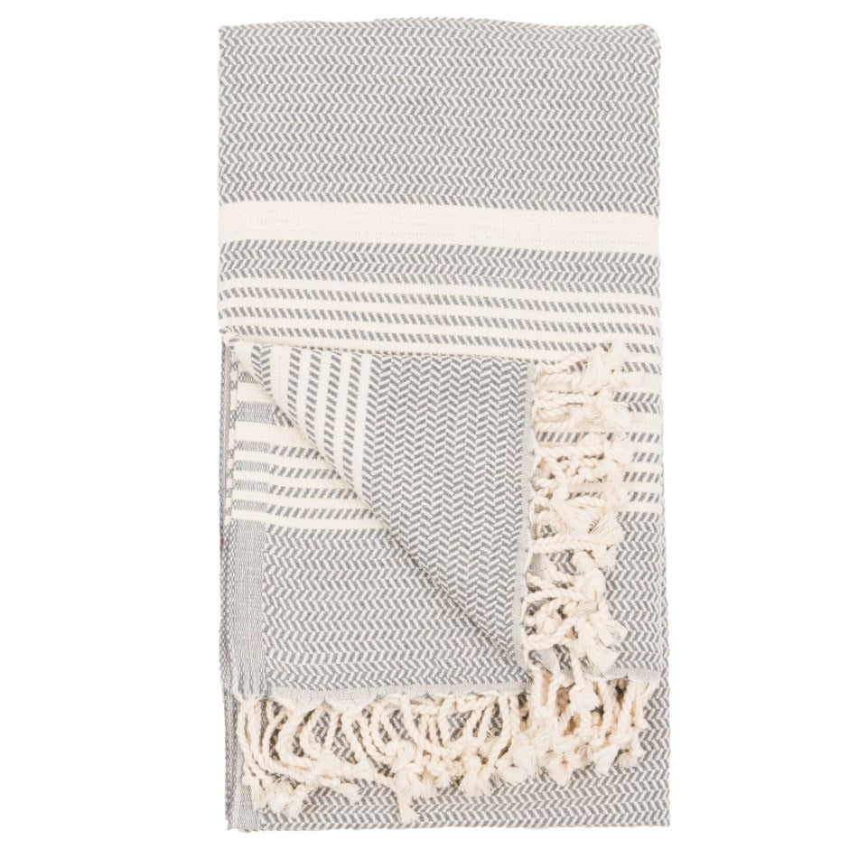 Turkish Towel/Throw Slate