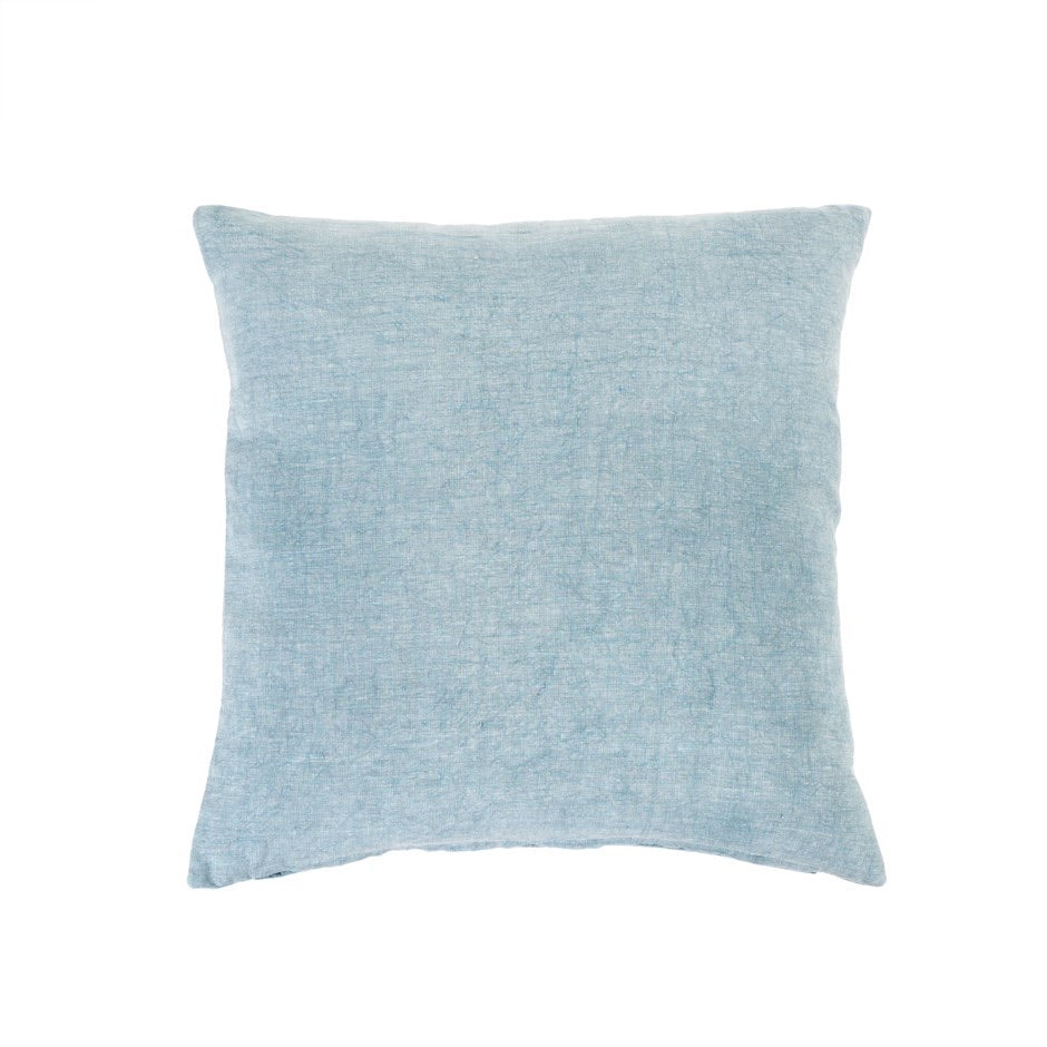 Nala Linen Pillow, blue