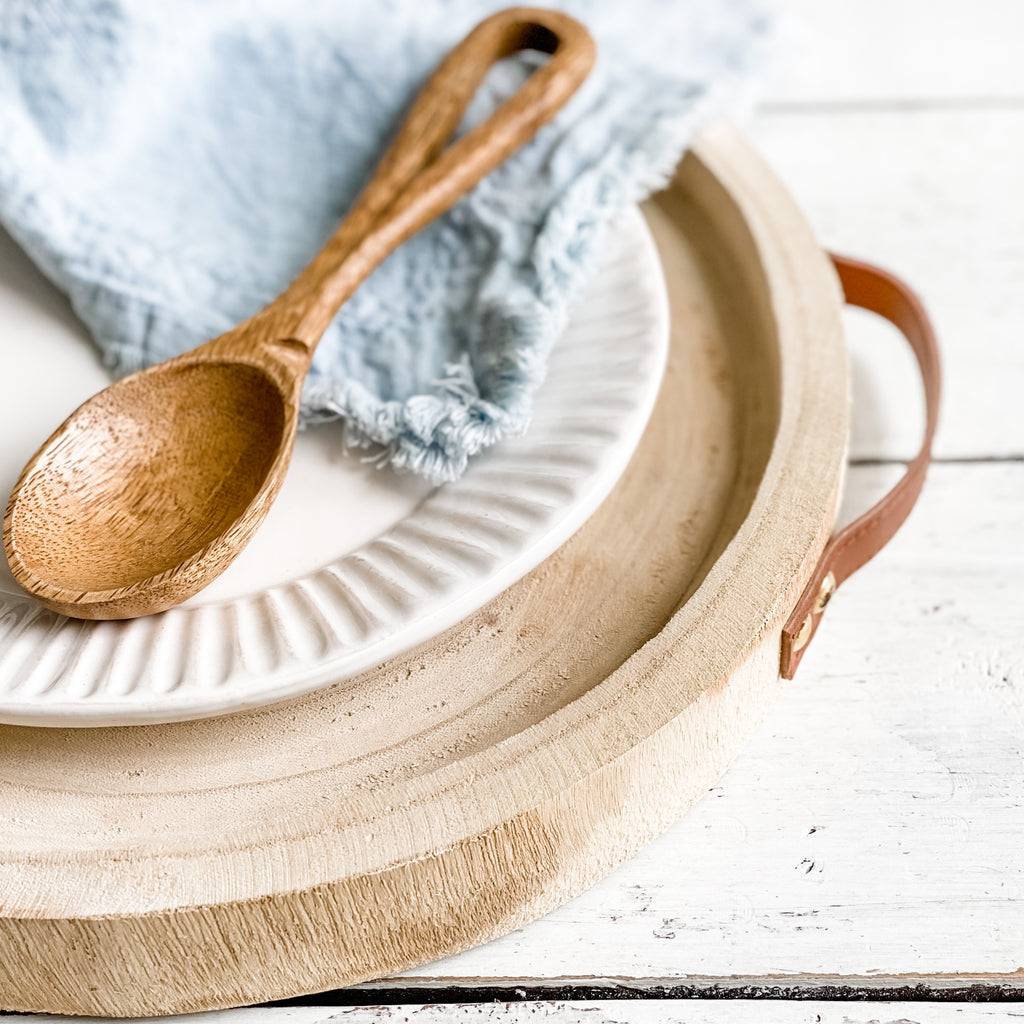 Wooden Handle Tray, Natural
