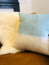 "Load image into Gallery viewer, 20"" Shibori Dipped Silk Pillow Cover"