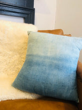 "Load image into Gallery viewer, 18"" Shibori Dyed Silk Pillow Cover"