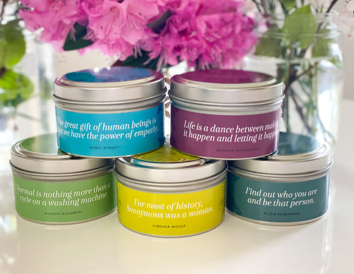 Summer Inspiration Quote Candles