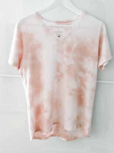 Tencel V-Neck T-Shirt in  Blush