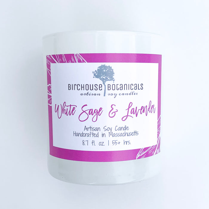 Artisan Soy Candle in Glossy White Tumbler