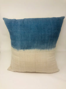 "20"" Shibori Dipped Silk Pillow Cover"