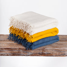 Load image into Gallery viewer, 3 Panel Natural Queen Cotton Blanket