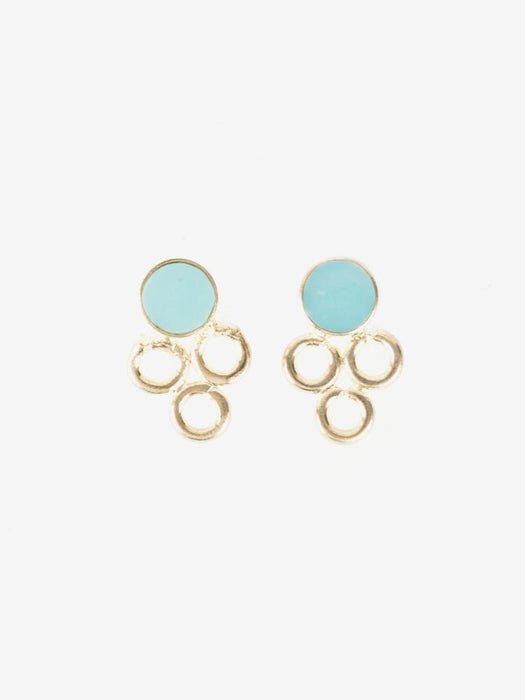 Full Circle Studs in Teal