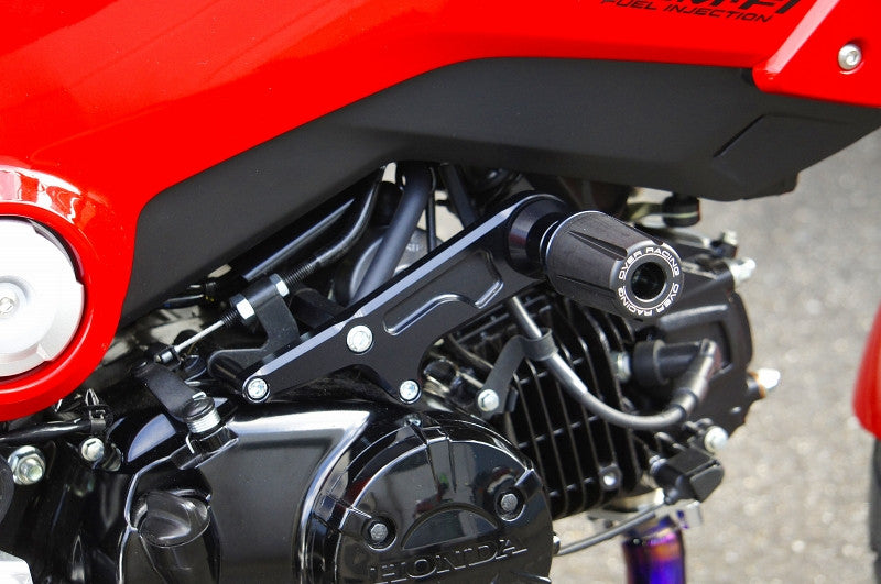 over racing engine frame sliders black for honda grom