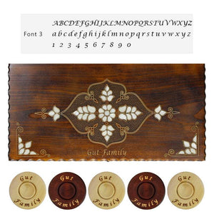 Personalized Wooden Backgammon Set (Elegant) Backgammon Antochia Crafts