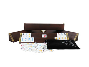 Straight Wooden Rummy Cube - Turkish Okey Game
