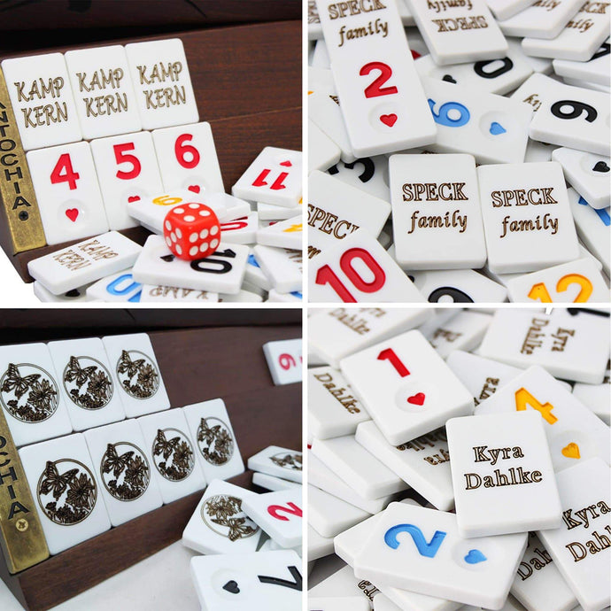 Personalized Rummy Cube Tiles Rummy Antochia Crafts