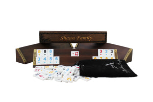 Personalized Wooden Oval Rummy Cube Set - Shaun - Antochia Crafts