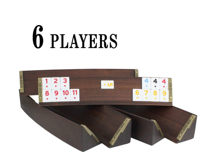 6 Players Oval Rummy Cube Board Game Set Antochia Crafts