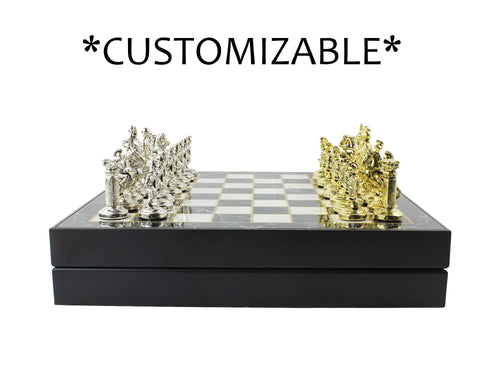 12 Inch Personalized Luxury Chess Game Chess Set Antochia Crafts