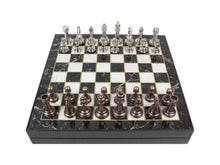 Load image into Gallery viewer, 13.7 Inch Chrome Plated Boxed Custom Chess Board Game Set Antochia Crafts