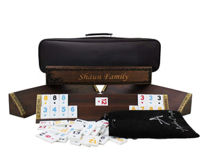 Personalized Wooden Oval Rummy Cube Set - Shaun