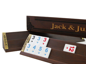 Custom Wooden Rummy Cube Game Set - Jack - Antochia Crafts