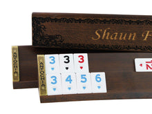 Load image into Gallery viewer, Personalized Wooden Oval Rummy Cube Set - Shaun - Antochia Crafts