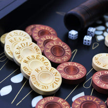 Load image into Gallery viewer, Personalized Backgammon Chips - Custom Engraved Backgammon Pieces