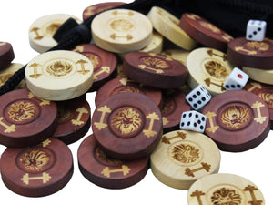 Personalized Backgammon Chips - Custom Engraved Backgammon Pieces