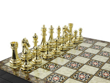 Load image into Gallery viewer, Mosaic Plated Boxed Custom Chess Set : Golden Antochia Crafts