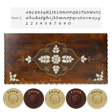 Load image into Gallery viewer, Personalized Wooden Backgammon Set (Elegant) Backgammon Antochia Crafts