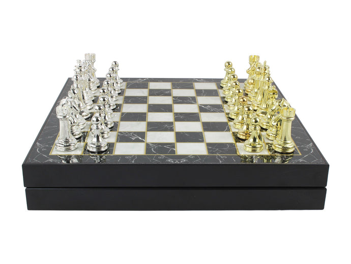 Personalized Luxury Chess Set : Gold Antochia Crafts