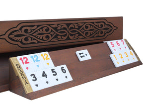 Engraved Wooden Rummy Cube Game Set