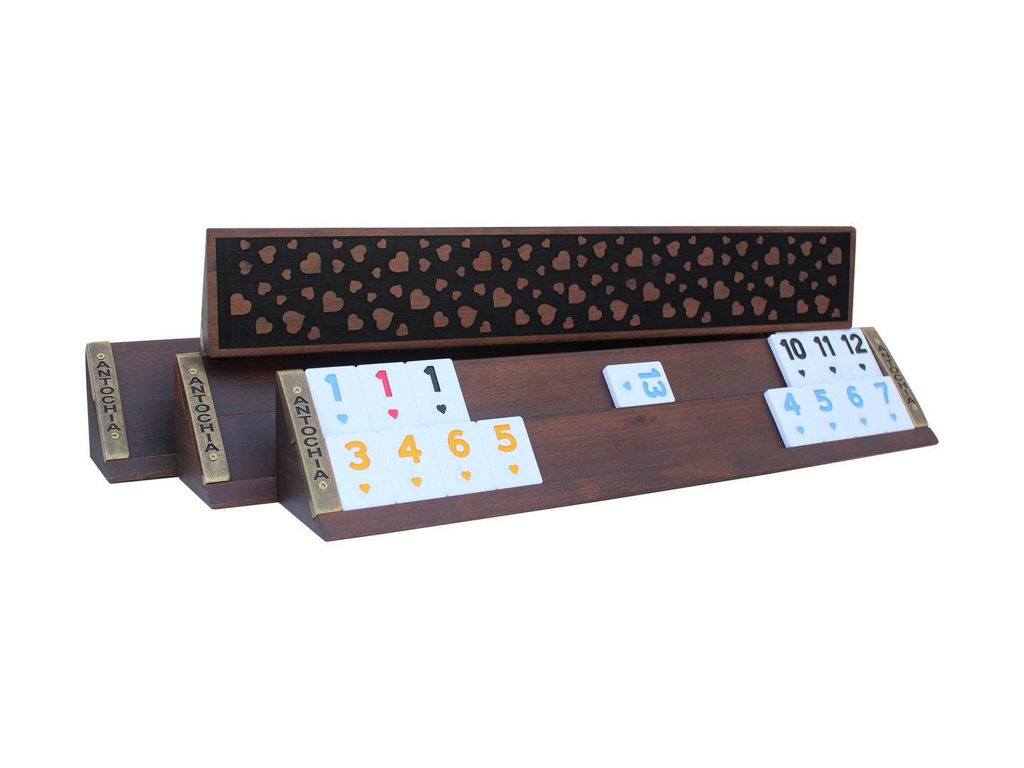 Wooden Rummy Cube Game Set Hearth Engraved