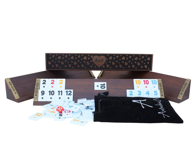 Hearth Shaped Custom Rummy Cube Game Set Antochia Crafts