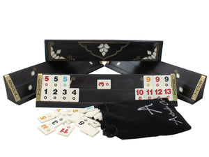 Exclusive Black Wooden Rummy Cube - Antochia Crafts