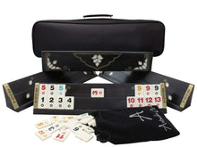 Load image into Gallery viewer, Exclusive Black Wooden Rummy Cube Set Rummy Antochia Crafts
