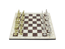 Load image into Gallery viewer, Marble Design Chess Board and Figures 14.5 Inch Antochia Crafts Chess Set