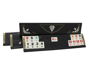 Exclusive Black Wooden Rummy Cube