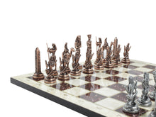 Load image into Gallery viewer, 14.5 Inch Marble Design Chessboard and Figures Antochia Crafts