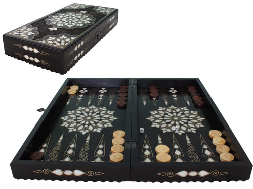 Wooden Exclusive Backgammon Game Set - Antochia Crafts