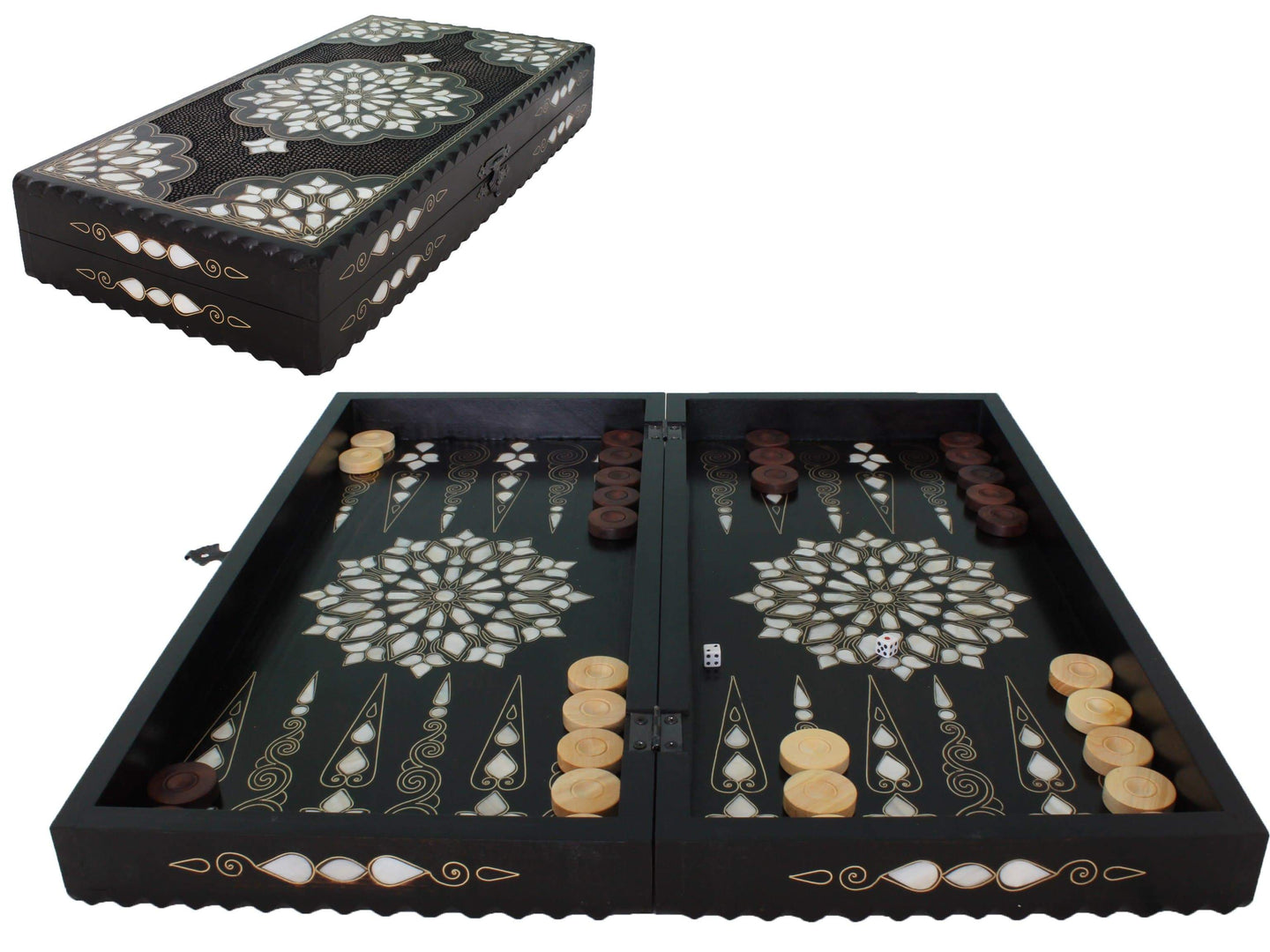 Wooden Exclusive Backgammon Game Set